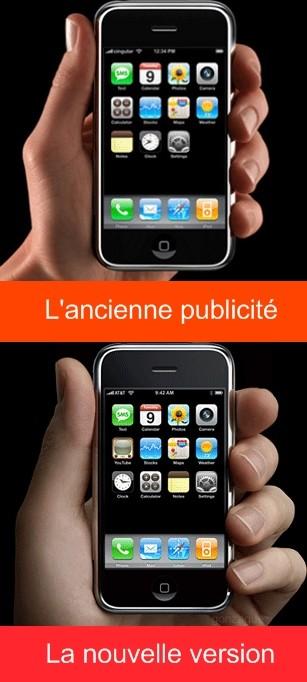 Apple iPhone : les mains changent la perspective