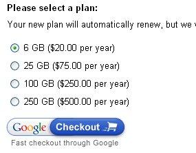 Google Additionnal Storage