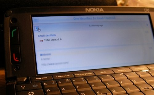 iPhone Netvibes sur un Nokia