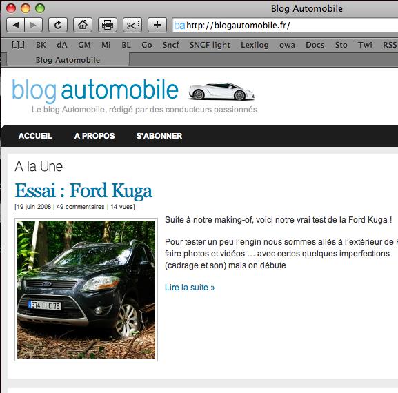 Thème blogautomobile.fr