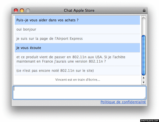 Apple Store Chat