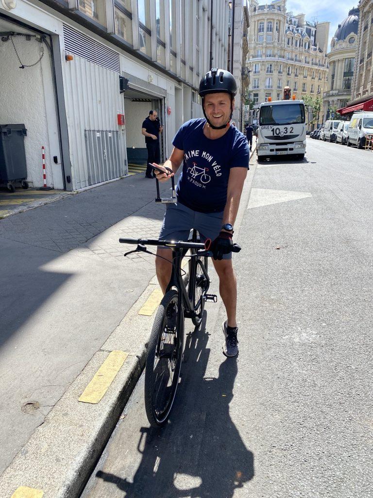 Moi sur le vélo Angell