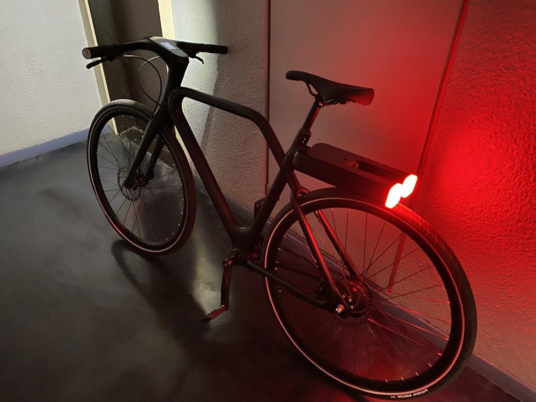 Vue arrière du vélo Angell Bike